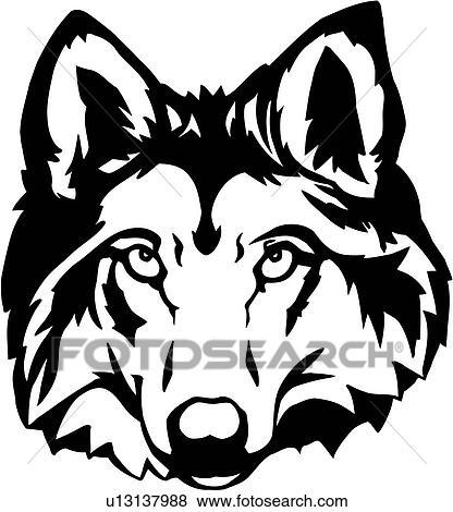 Anime Wolf Head Drawings Animal Head Wolf