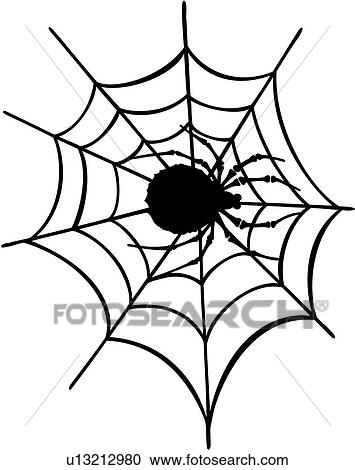 Clipart of , pinstriping, spider, spider web, vehicle graphics ...