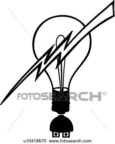 Clipart Of Electrician Elements Occupations Professions Sign