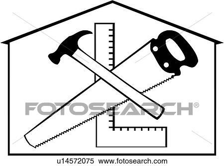Clipart of , carpenter, construction, elements ...