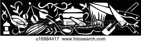 Clip Art - , border, chef, cook, cooking, kitchen ...