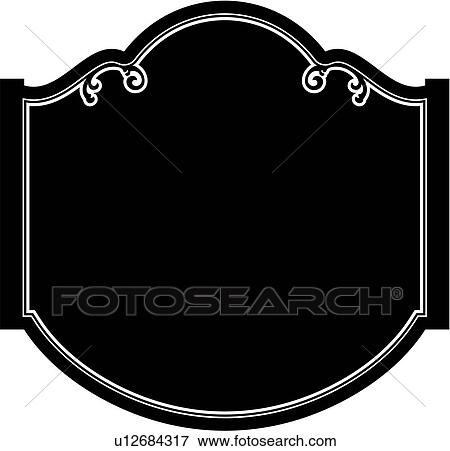 Fancy Blank Sign Clipart