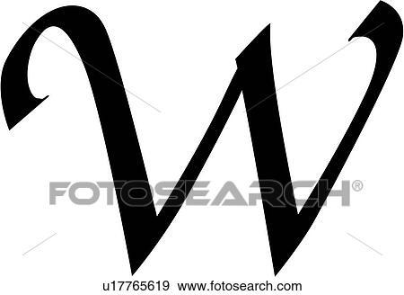 clip art alphabet block calligraphy capital chisel letter