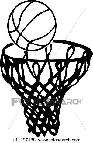Clip Art of , ball, basketball, equipment, hoop, sport, u11197188 ...
