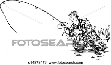 Fishing pole Clipart Illustrations. 1,080 fishing pole clip art ...