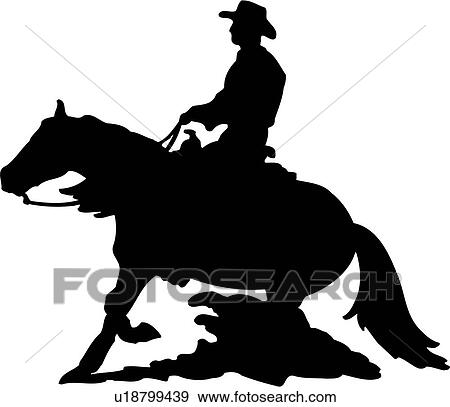 clip art of animal cowboy horse riding horse southwest rh fotosearch com barrel racing clipart free Barrel Racing Quotes