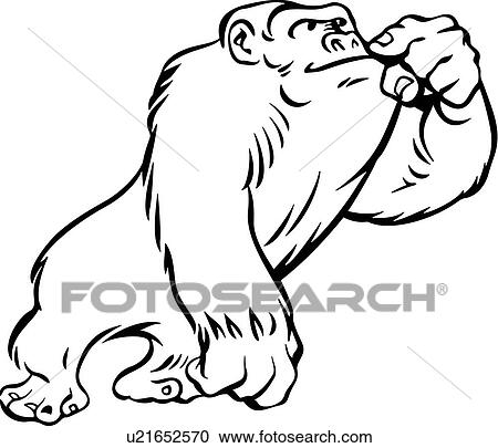clipart of animal ape gorilla cartoons u21652570 search rh fotosearch com ape clipart free ape clipart free
