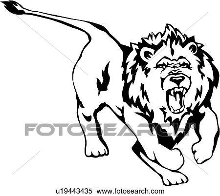 Animal king jungle lion wild fotosearch search clip art