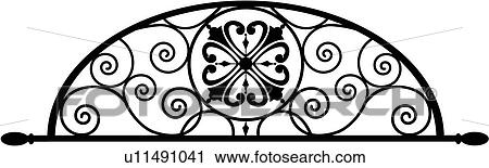 Wrought iron Clip Art Illustrations. 2,170 wrought iron clipart ...