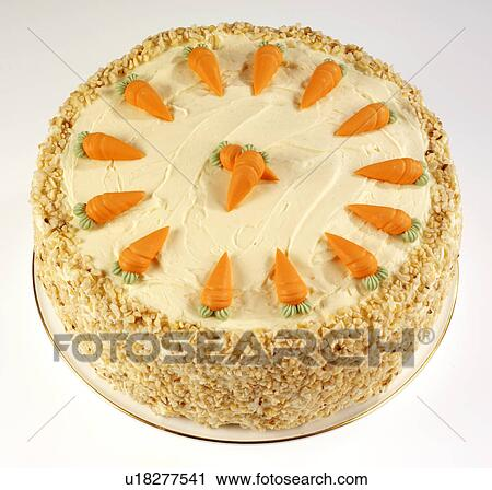Clip Art Of Carrot Cake : Stock Photography of Whole Carrot Cake On White u18277541 ...