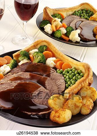 Immagini tradizionale arrosto di manzo cena con for Cerca per foto