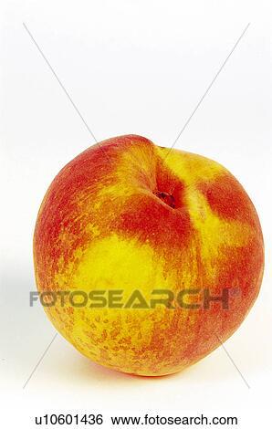 banque d 39 images fruit nectarine jaune orange couleur jaune et orange une peler. Black Bedroom Furniture Sets. Home Design Ideas