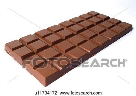 Stock Photo Of Chocolate Bar One Black