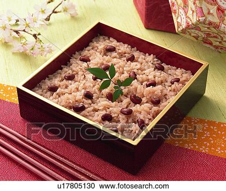 banques de photographies riz cuit vapeur adzuki u17805130 recherchez des photos des. Black Bedroom Furniture Sets. Home Design Ideas