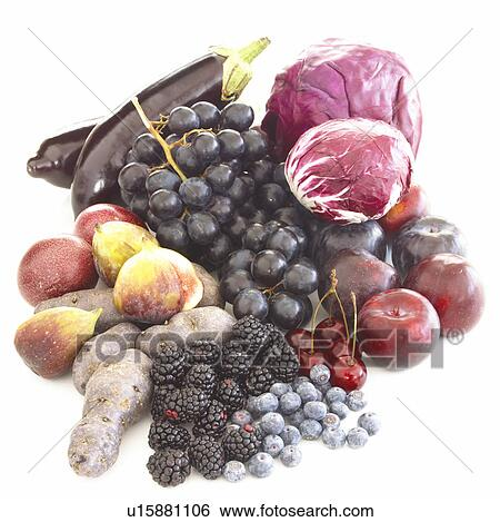 Stock Images of Five-a-day: red fruit and vegetables ...  Stock Images of...