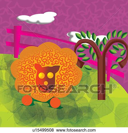 Clip Art of Aries, sign of zodiac u15499508 - Search Clipart ...