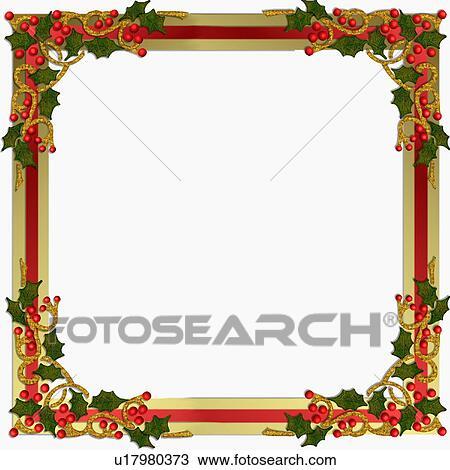 zeichnung weihnachten stechpalme bilderrahmen. Black Bedroom Furniture Sets. Home Design Ideas