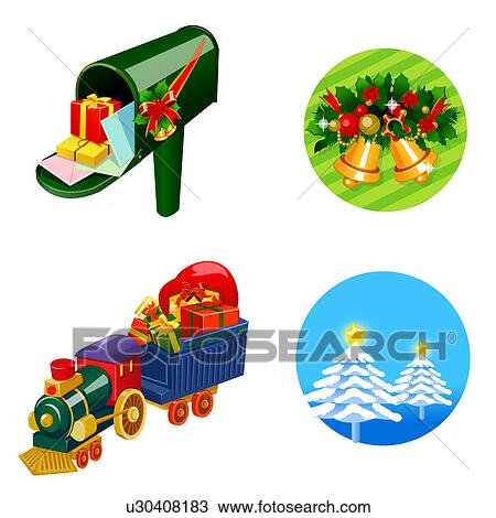 zeichnung briefkasten liefern weihnachtsgeschenk mit. Black Bedroom Furniture Sets. Home Design Ideas