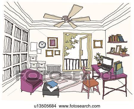 Disegni studio stanza interno u13505684 cerca for Disegno stanza