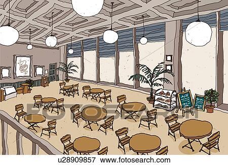 Archivio Illustrazioni - albergo, sala da pranzo. Fotosearch - Cerca ...