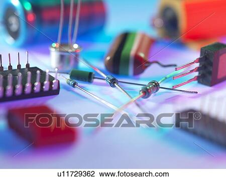 Clip Art of Electronic components u11729362 - Search Clipart ...