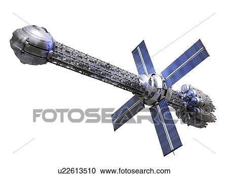 Banque d 39 illustrations futuriste vaisseau spatial - Dessin vaisseau spatial ...