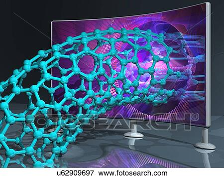 Banque d 39 illustrations nanotechnology recherche image for Peinture conceptuelle