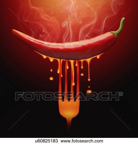 Dessin chaud piment rouge image conceptuelle u60825183 for Peinture conceptuelle