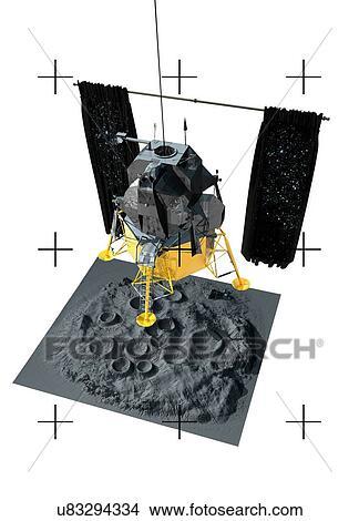 Drawings of Moon landing, artwork u83294334 - Search Clip ...