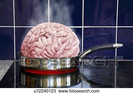 Frying Pan Drawing Drawing Brain in Frying Pan
