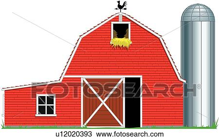 Drawing Of Barn U12020393