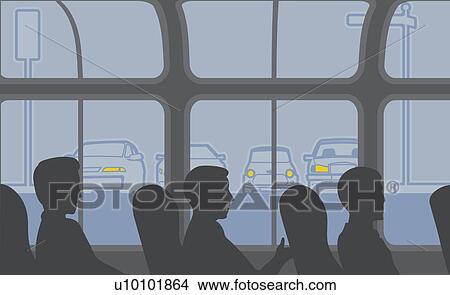 sentando autobús