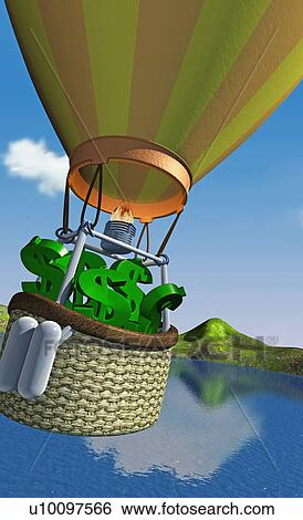 stock illustration nahaufnahme von dollarzeichen in a hei luft ballon u10097566 suche. Black Bedroom Furniture Sets. Home Design Ideas