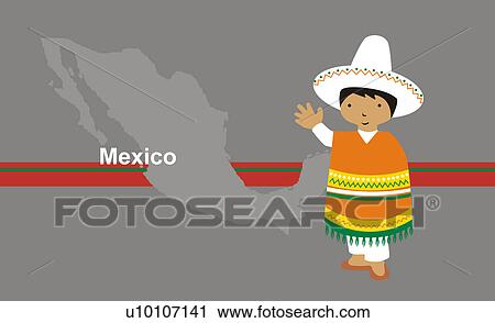 Boy wearing traditional Mexican Traditional Clothing For Boys