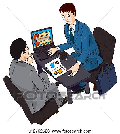 Busy People Clipart Two People Having a Business