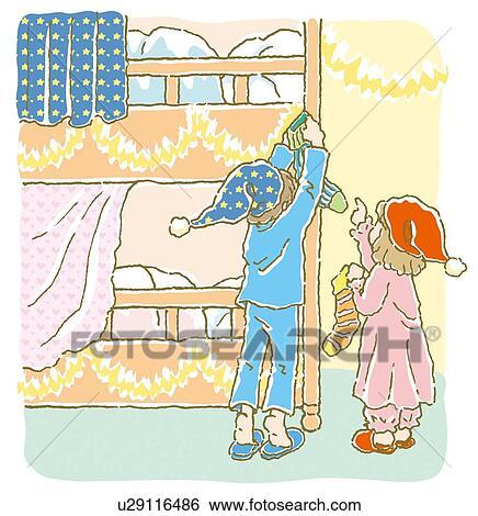 stock illustration gem lde von kindern setzen. Black Bedroom Furniture Sets. Home Design Ideas