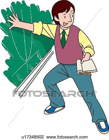 Clip Art of Man Who is Teaching the Mathematics ...