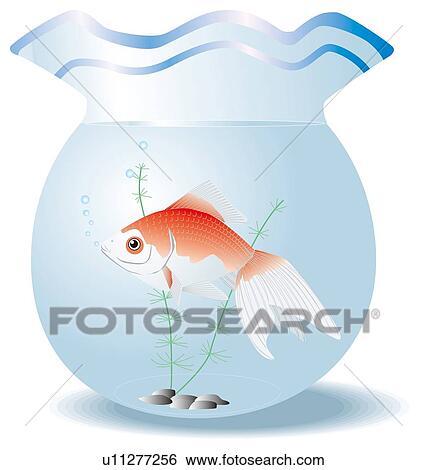 Banque d 39 illustrations poisson rouge dans cuvette for Recherche poisson rouge