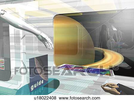 Banque d 39 illustrations int rieur imaginaire vaisseau spatial illustr - Interieur vaisseau spatial ...
