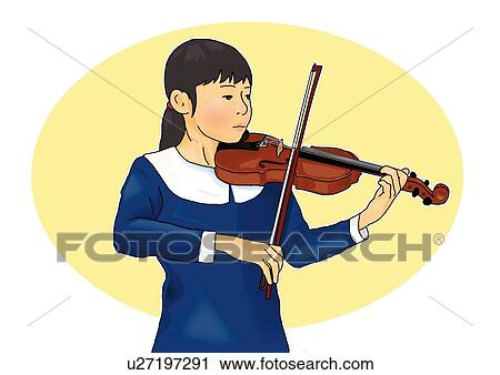 Girl Playing Clipart Clipart Girl Playing Violin