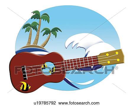 Gemälde clipart  Clip Art - ukulele, und, welle, gemälde, abbildung u19785792 ...