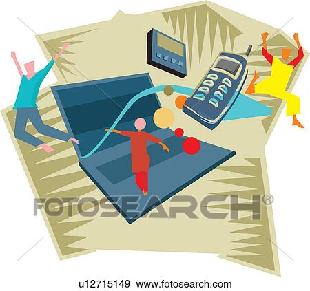 Stock Illustration of Technologies featuring information and ...