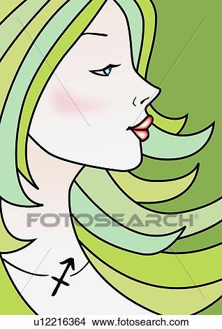 Disegni primo piano di sagittario donna u12216364 for Disegno di piano domestico