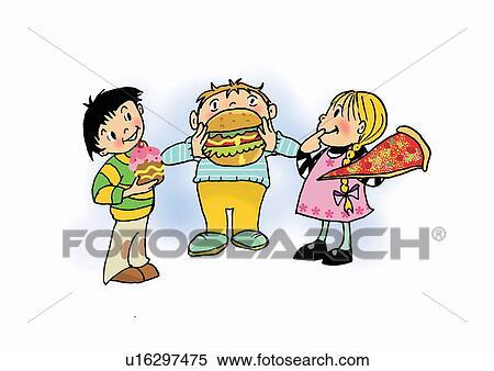 Unhealthy Child Drawing Stock Illustration Children