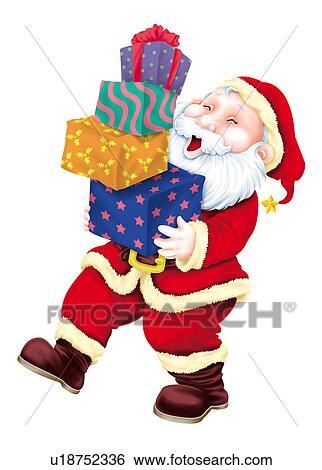 santa claus holding gifts - Santa Claus Gifts