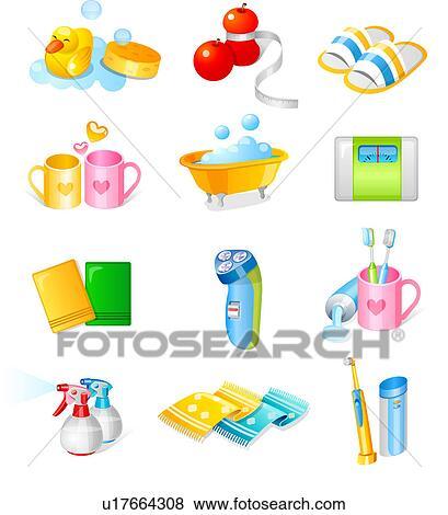 Stock Illustration Of Various Toiletries U17664308