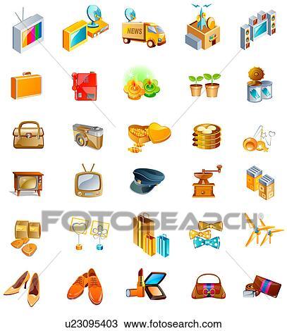 dessin diff rent types de objets u23095403 recherchez des cliparts des illustrations et. Black Bedroom Furniture Sets. Home Design Ideas