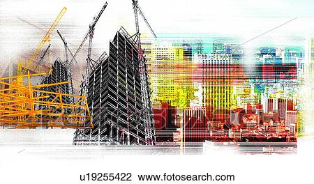 Construction Building Background Construction Site Background