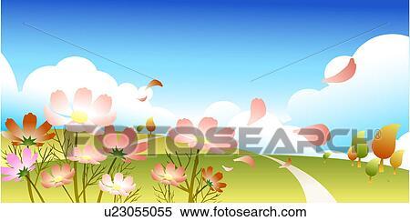 Stock Illustration of Autumn Scenery u23055055 - Search ...