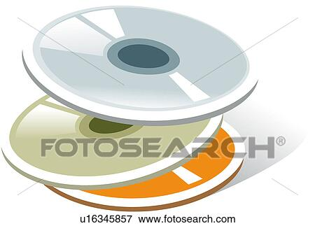 Stock Illustration of CD, object, logo, compact disc, icon ...
